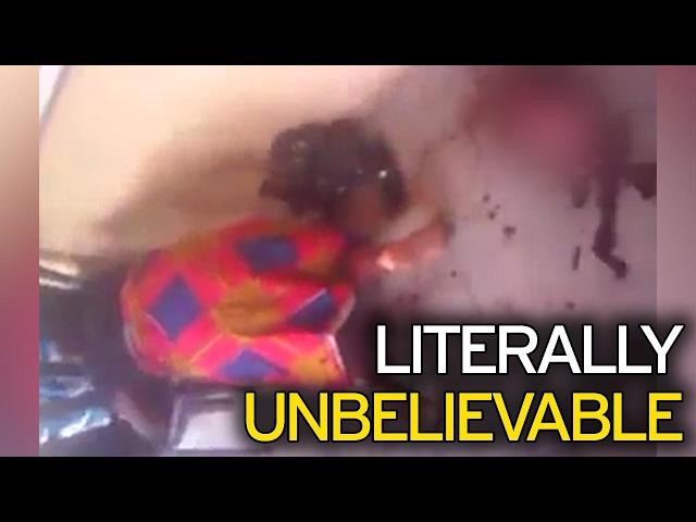 इस महिला ने दिया बकरी के बच्चे को जन्म, देखें विडियो