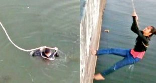 'चल बेटा सेल्फी ले ले रे...' के चक्कर में ताल में गिरी युवती, लोगों ने रस्सी से बाहर खींचा